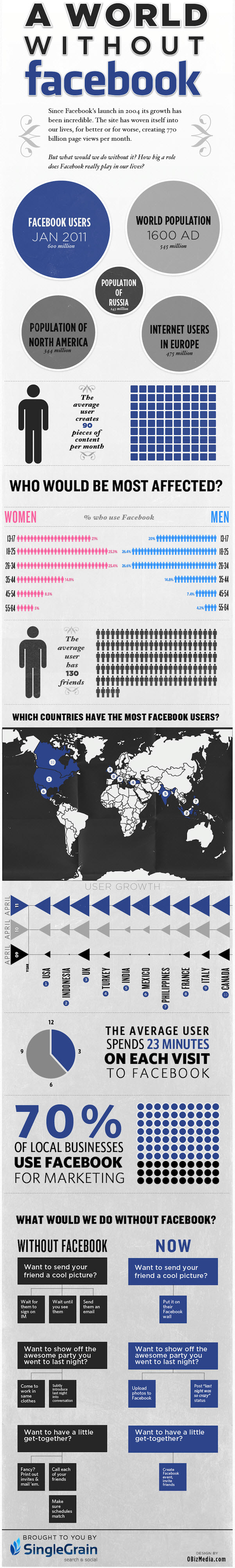 Facebook Infographic a world without Facebook Social Media   What is Facebook?